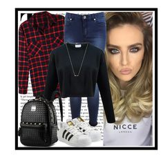 """Swag"" by nickyavakidou ❤ liked on Polyvore featuring moda, LE3NO, Miss Selfridge, adidas Originals y Wanderlust + Co"