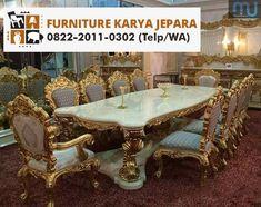 Meja Makan Ukir Jepara Mewah - Furniture Jepara - Furniture Jepara House Arch Design, Dining Room Table, Chairs, Furniture, Home Decor, Articles, Mesas, Dining Table, Decoration Home