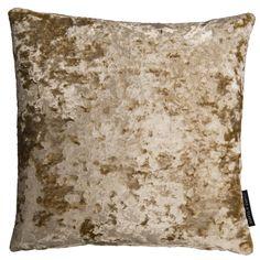 Crush Velvet Sand Square Cushion