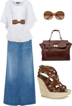 long skirt site | Long Denim Skirt Misses | Chadwicks Beautiful ...