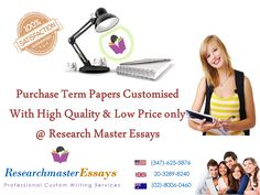 If a term paper writing service is what you need, you've come to the right place! http://researchmasteressays.com/termpaper.php