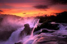 Iguazu Falls at sunrise,Iguazu National Park, Misiones Argentina; Javier Etcheverry