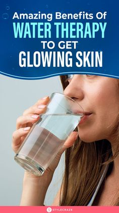 3 Amazing Benefits Of Water Therapy - Get Glowing and Healthy Skin: Water can be your ultimate solution to treat many beauty issues including dull skin acne dark spots and what not! Lets check out how water can give you the ultimate beauty boost. Beauty Tips For Skin, Beauty Skin, Skin Care Tips, Health And Beauty, Beauty Boost, Beauty Ideas, Beauty Hacks That Really Work, Water Benefits For Skin, What Is Water