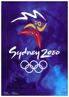 SYDNEY 2000 SUMMER OLYMPIC GAMES Official Poster Reprint ~ Available at www.sportsposterwarehouse.com