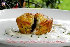 Tortino di zucchine con cuore filante, antipasto vegetariano sfizioso e ricco di gusto!