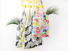 Vallila tote bag collection. Spring Collection, Beautiful Bags, Delicate, Tote Bag, Floral, Pattern, Color, Design, Flowers