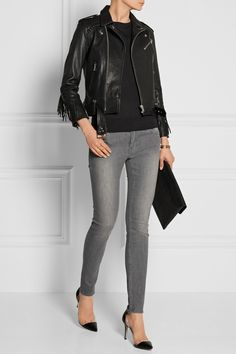 size 27 on a really skinny fit unless it stretches size 26 otherswise BLK DNM| low-rise skinny jeans|NET-A-PORTER.COM