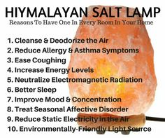 Himalayan Salt Lamps Myth : Detox your home All natural Pinterest Detox and Feng shui