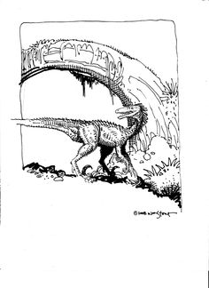 William Stout Dinosaur Comic Art