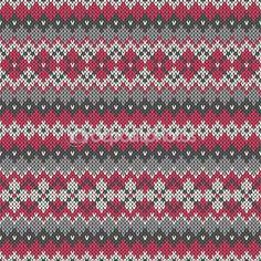 Gebreide naadloze patroon in fair isle stijl — Stockvector © Atelier_Agonda #56379139
