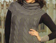Gilet a maglia: foto e modelli - Raffinato gilet ai ferri