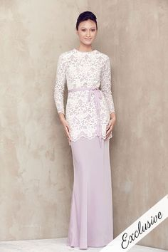 baju kurung lilac more baju melayu melinda looi fashion dresses baju ...