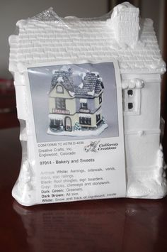 Ready To Paint Christmas Village California Creations 97436 Essex House