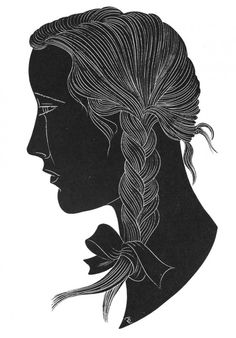 Eric Gill - The Plait, 1929  //  Wood Engraving