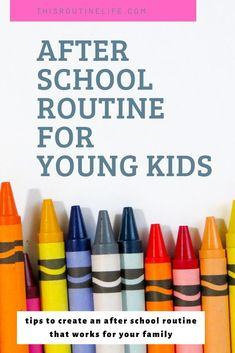 The after school routine that works for our family with a 4 year old and 7 year old. Free after school routine printable included. School Routines, Daily Routines, Kids School Organization, After School Schedule, Routine Printable, Routine Chart, Back To School Crafts, Like A Mom, Charts For Kids