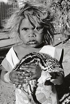 Australian Emu Chick held by Aboriginal Girl ~ Photography by Aliastair… Aboriginal History, Aboriginal Culture, Aboriginal People, Aboriginal Art, Aboriginal Children, Antique Photos, Old Photos, Australian Aboriginals, Australian People