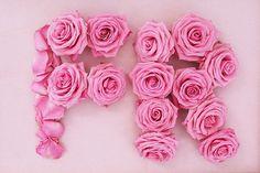 Photograph Vive la France Pink roses Monogram by itsaflowerthing