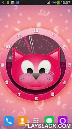 """Pink Cat Clock  Android App - playslack.com ,  Pink Cat Clock is a custom built OpenGL live wallpaper, with 100% unique graphics! This Live Wallpaper will not drain your battery.HOW TO USE:1. Open the Live Wallpaper 2. Tap the """"Set live wallpaper"""" button3. Tap the """"Set wallpaper"""" button to apply or tap the """"Settings"""" button to customize your Live WallpaperSweet kitty is waiting to animate your device in a way you will definitely love. DOWNLOAD NOW Pink Cat Clock and make your device look…"""