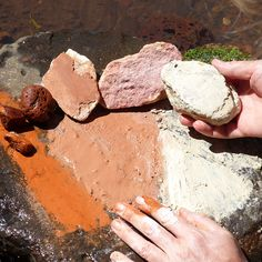 Colors from the Earth Links about earth pigments: Tutorial by Rune Cutter: how to make paint from rocks: Leah Fanning Mebane: Eco friendly and non-toxic oil painting using natural pigment and walnu…