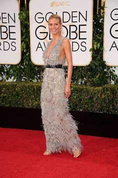 Heidi Klum in Marchesa at 2016 Golden Globe Awards in Beverly Hills