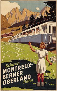 Montreux - Berner Oberland - 1937 - (Burger Wilhelm Friedrich) -