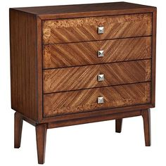 Rayen Modern 4-Drawer Accent Chest - basically love everything about this. Side table? Front entrance?