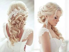 I love this elegant wedding hairstyle for a bling bride!
