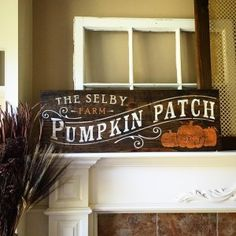 Create a custom wood Pumpkin Patch sign with personalization perfect for fall! 11x32 in size. Choose your own stain and paint colors to match your decor perfectly!