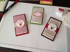 Stampin Up -- Gift Card Holders - Season of Style DSP, Very Merry Tags