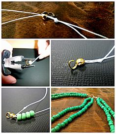 Bead Necklace: DIY Braided Bead Strand Tutorial