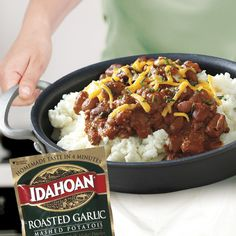 Recipes with made-from-scratch taste in just minutes. It's why everyone loves Idahoan.