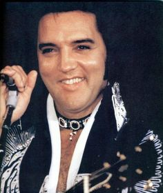 "Elvis...1975 in his ""Silver bird"" jumpsuit."