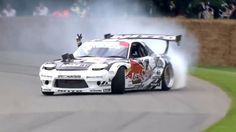 Mad Mike Drifting the Red Bull RX7 up the Goodwood Hill Climb #FOS