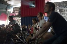 """UK-based non-for-profit bike education and advocacy group, Magnificent Revolution have launched their, frankly taxing film series Cycle-In Cinema at Hackney City Farm. We say """"taxing"""" because participants are asked to power the outdoor screening by peddling their bikes, which are connected to generators, subsequently producing electricity."""