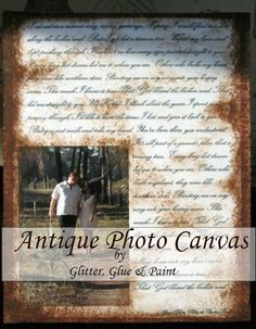 Antique Photo Canvas!!! - Glitter Glue & Paint