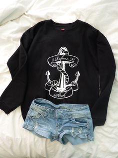 """Anchor """"I Refuse To Sink"""" Crewneck Sweater by RealRebel on Etsy https://www.etsy.com/listing/171841987/anchor-i-refuse-to-sink-crewneck-sweater"""