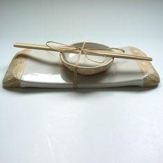 sushi tray and bowl