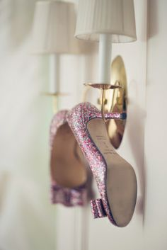 Pink Glitter Heels by Kate Spade Charm