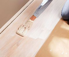 How to white wash wood floors.