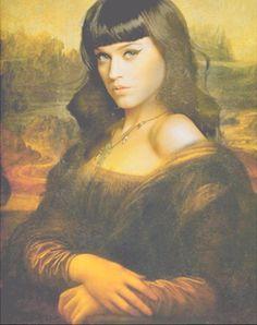 Katy Perry IS Mona Lisa! Praise Photoshop!