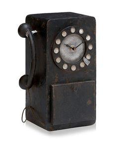 Old-Fashioned Telephone Clock
