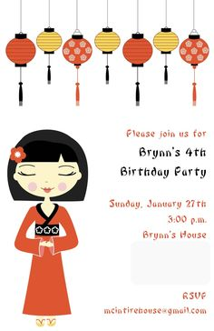 Cute Chinese Themed Bday party