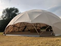 Timber & Canvas' newest handbuilt structure is here - The Hubble Dome 20 can fit from people!