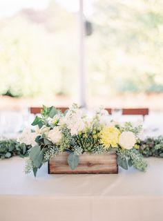 #FabFloraChicago #KinaWicksPhotography #Centerpiece #WeddingFlowers #WeddingGarland #Succulents #White&Yellow #PrairieWedding