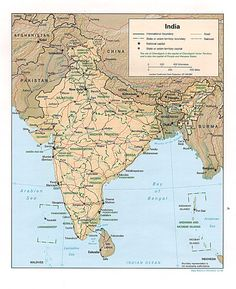 Detailed map of India