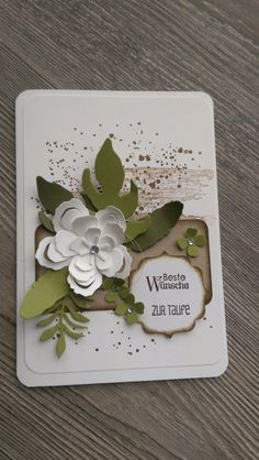 Greeting - card christening, birthday, wedding, gift certificate, new - a designer piece of My Creative Point at about