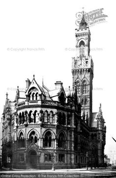 Photo of Bradford, The Town Hall 1888 from Francis Frith Bradford England, Bradford City, Yorkshire England, West Yorkshire, Welcome To Yorkshire, Underground Caves, Town Hall, Historical Photos, Black And White Photography