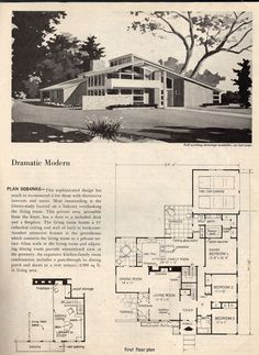 dramatic mid century modern house plans space age atomic era homes