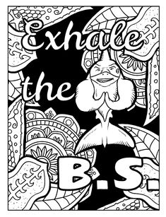 Adult Coloring Pages With Swear Words Relax