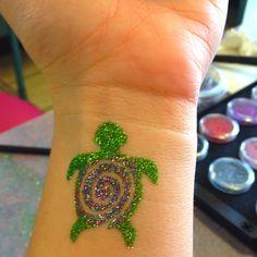 Glitter tattoo!